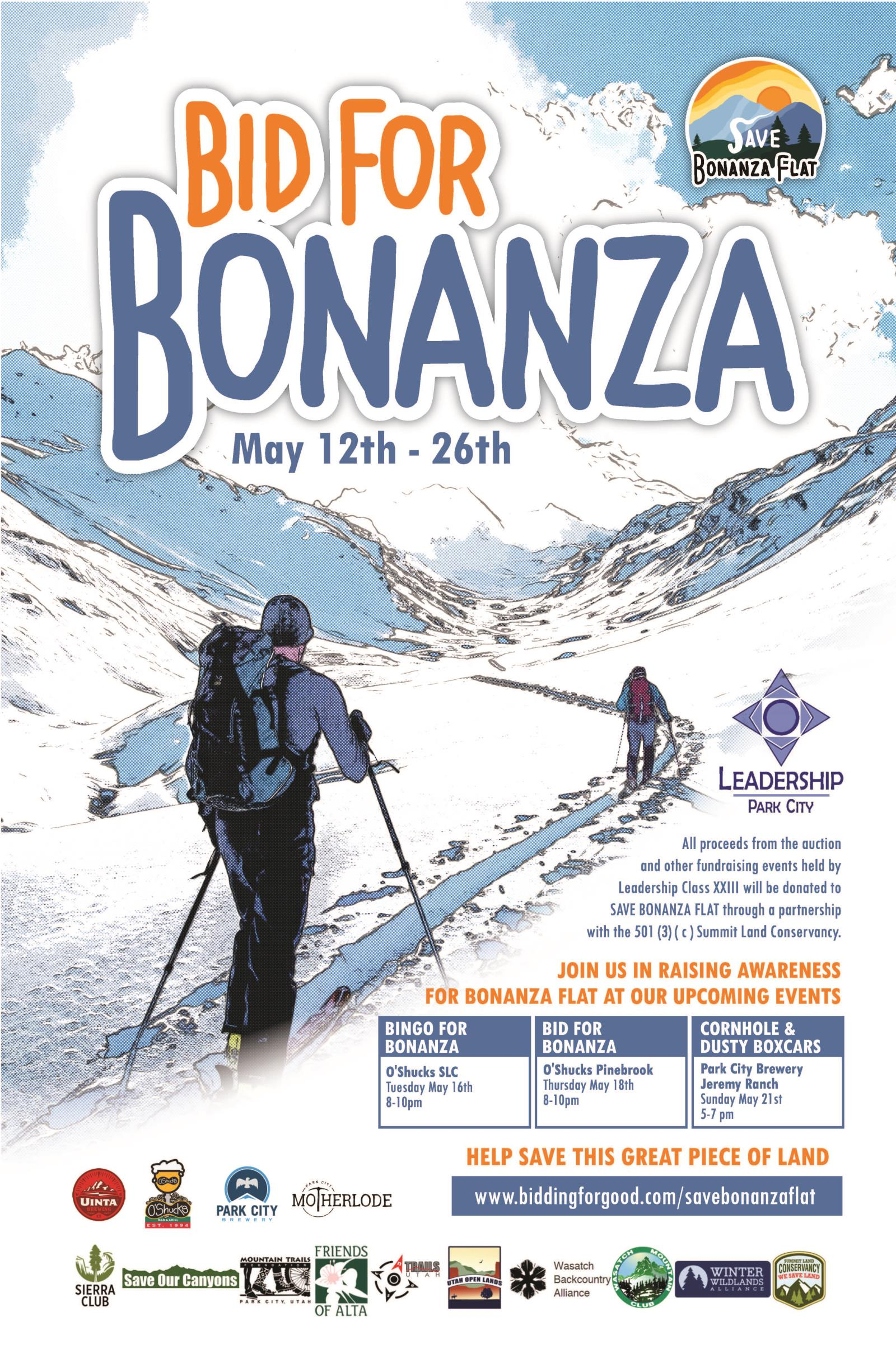 "Leadership Class 23's ""Bid For Bonanza"" Auction and upcoming events will support Bonanza Flat"