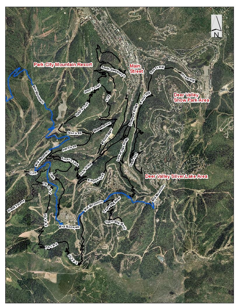 download map. open space  trails  park city ut